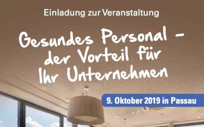 Veranstaltung: Gesundes Personal – der Vorteil für Ihr Unternehmen | 09.10.2019
